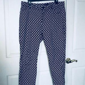 GAP Geometric Pattern Slim Fit Navy Pants